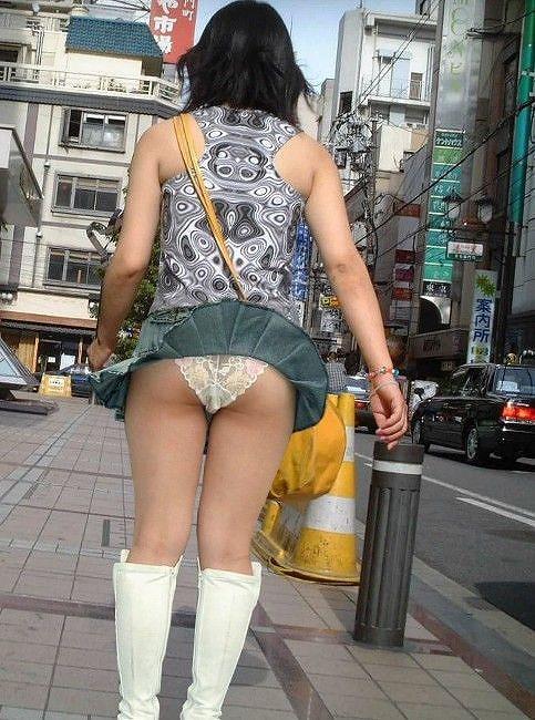 ラッキー,パンチラ,風の悪戯,ハプニング,チラリズム,エロ画像【15】