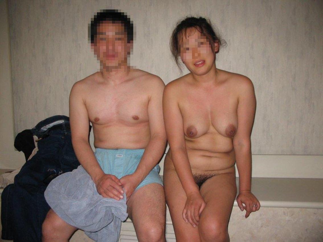 妻,旦那,記念写真,夫婦,エロ画像