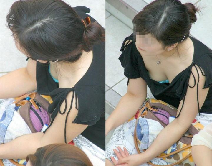 乳首,ブラジャー,胸元,ゆるゆる,胸チラ,エロ画像【38】