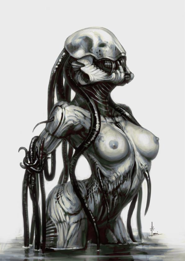 Naked girls alien porn