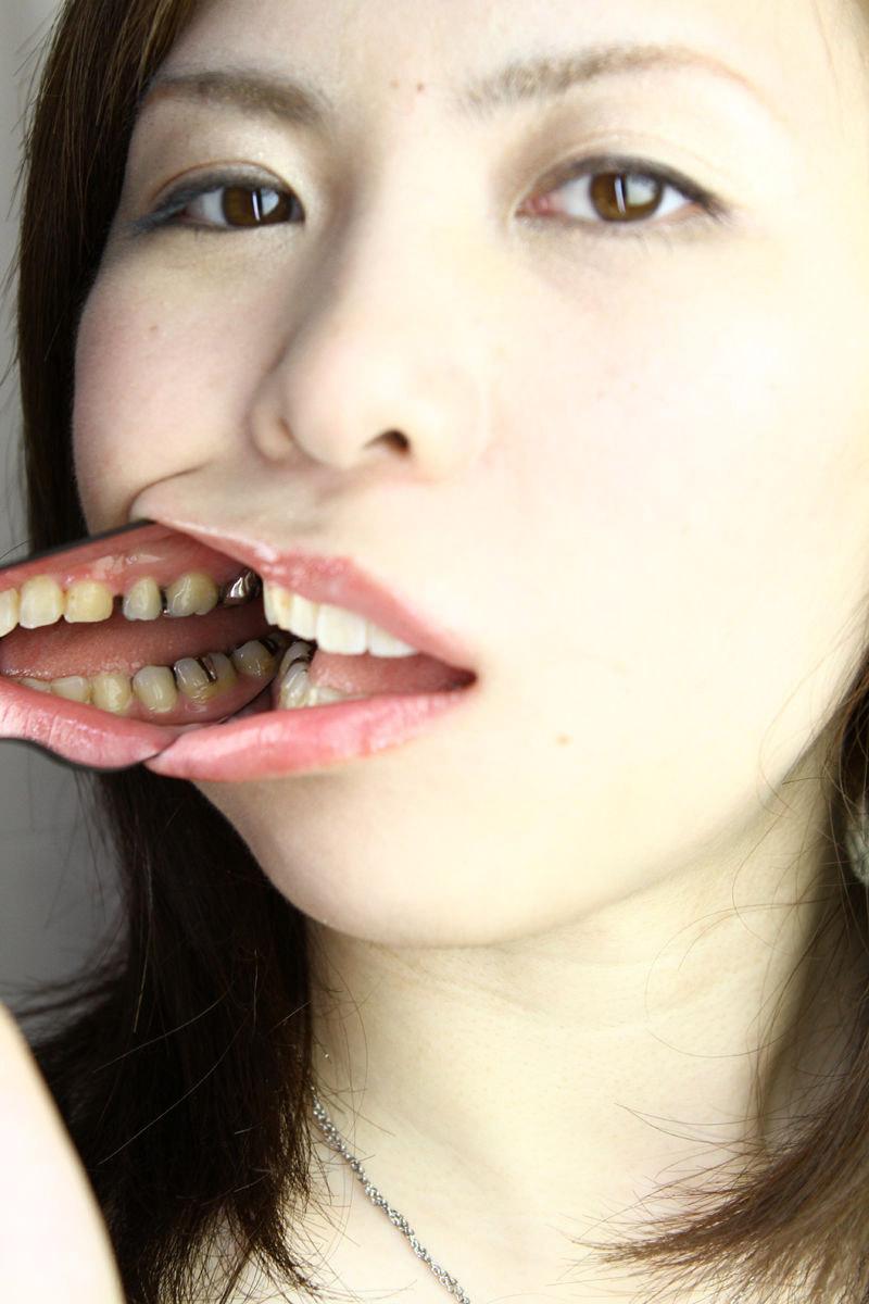 AV口まんこ無修正 アヒル口,フェチ,エロ画像,舌,歯,口腔,マニア【