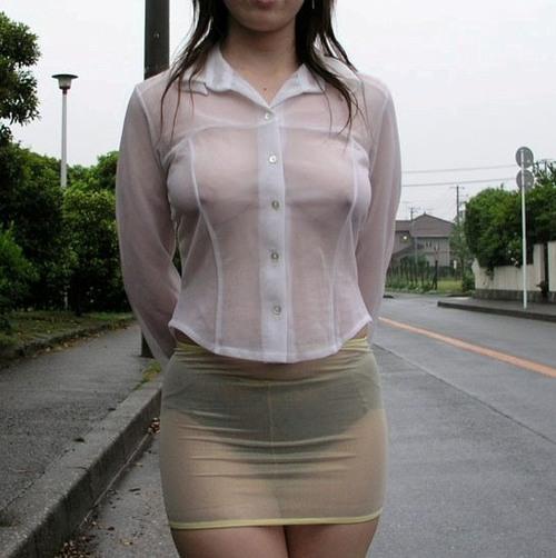 ブラ,パンツ,乳首,マンコ,全身,透け,エロ画像【27】