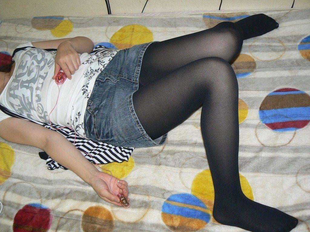 黒パンスト,黒タイツ,違い,エロ画像,比較【40】