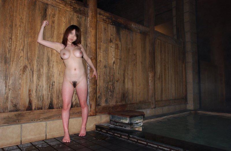 彼女,温泉,デート,流出,家族風呂,露天風呂,エロ画像【25】