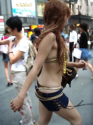 ギャル,私服,派手,露出,街撮り,エロ画像【21】