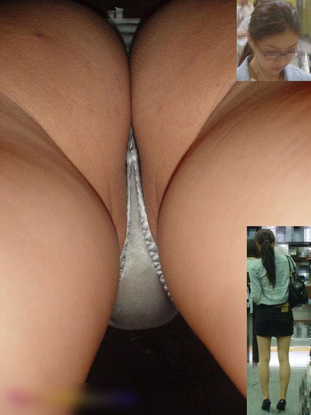 Sous la jupe de 2 amatrices specialement pour le voyeur