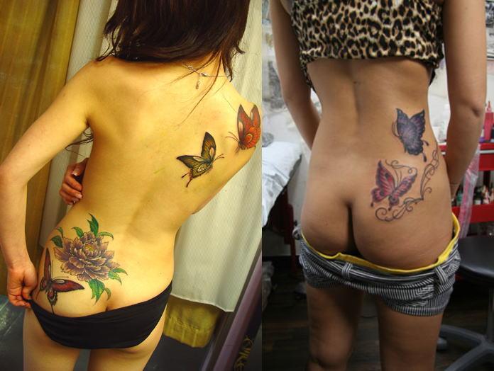 背中 腰 臀部 タトゥー 刺青 美しい セクシー エロ画像