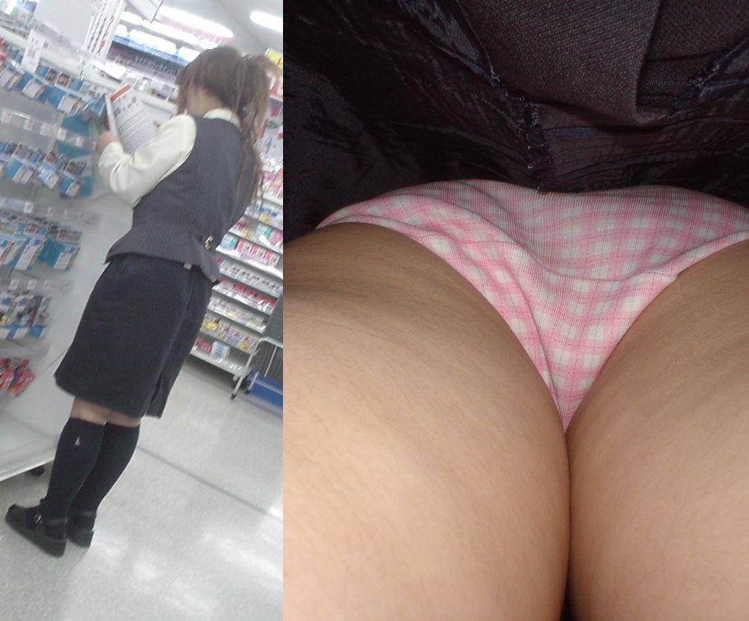 【画像】 ローアングルからお姉さんのパンツ見せて貰った結果wwwww