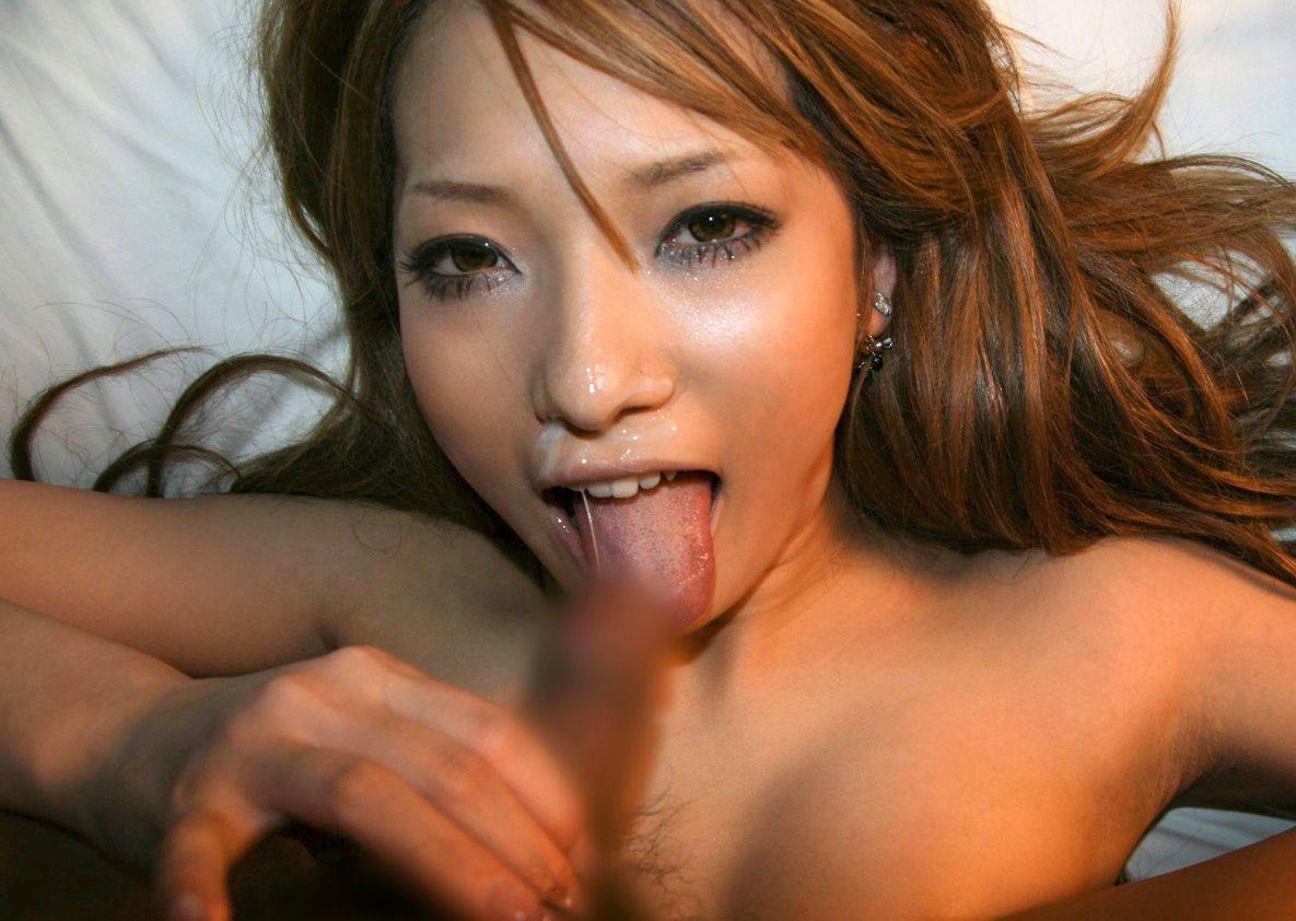 精子・愛!ザーメンぶっかけで幸せに浸る汚汁大好き女のエロ画像【10】