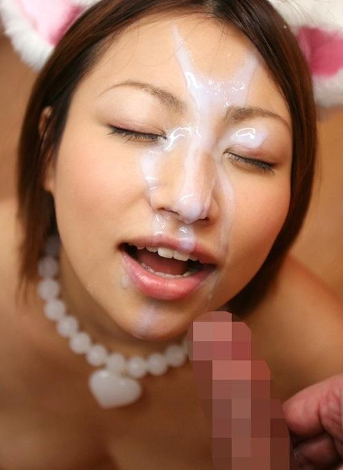 精子・愛!ザーメンぶっかけで幸せに浸る汚汁大好き女のエロ画像【19】