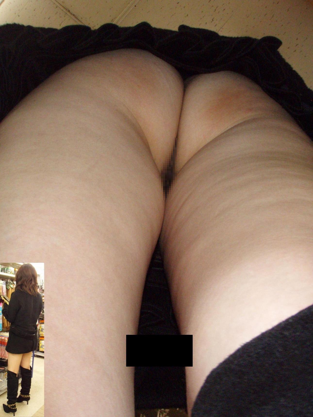 ノーパン スカート逆さ撮り 【ノーパン女子限定】マンチラリズムな逆さ撮り盗撮エロ画像【21】